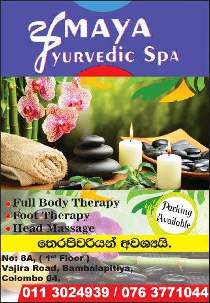 Amaya Ayurvedic Spa - [Bambalapitiya | Colombo 04]