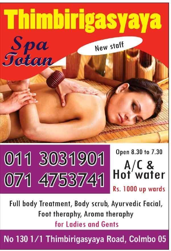 Spa Totan - [Thimbirigasyaya | Colombo 05]